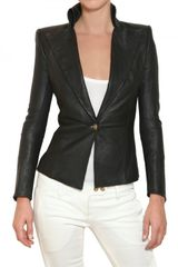 Balmain Nappa Leather Jacket - Lyst