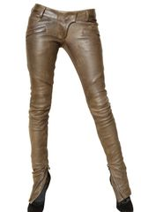 Balmain Leather Trousers - Lyst