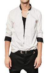 Balmain Striped Cotton Poplin Shirt - Lyst