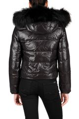 Beayukmui Racoon Fur Trim Down Jacket in Black - Lyst