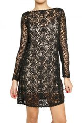 Blumarine Cotton Macrame Dress
