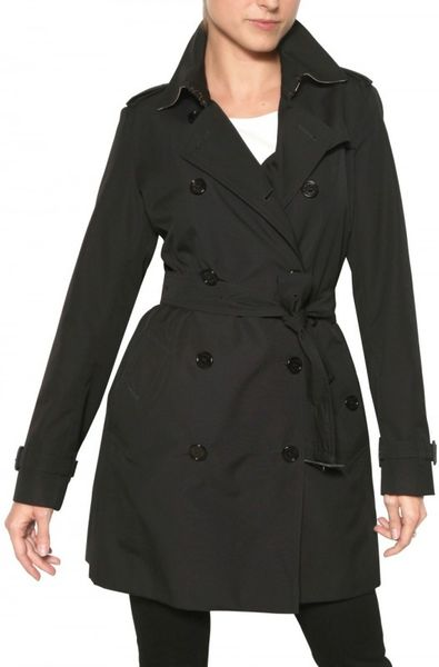 Burberry Buckingham Cotton Gabardine Trench Coat in Black - Lyst