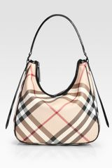 Burberry Check-Print Canvas Moore Hobo Bag - Lyst