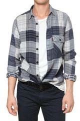 Burberry Brit Checked Cotton Gauze Shirt in Multicolor for Men (multi) - Lyst