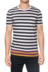 Burberry Brit Striped Cotton Jersey T-shirt - Lyst