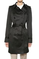 Burberry Prorsum Cotton Satin Trench Coat - Lyst