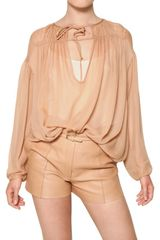 Chloé Crepe On Silk Georgette Shirt - Lyst