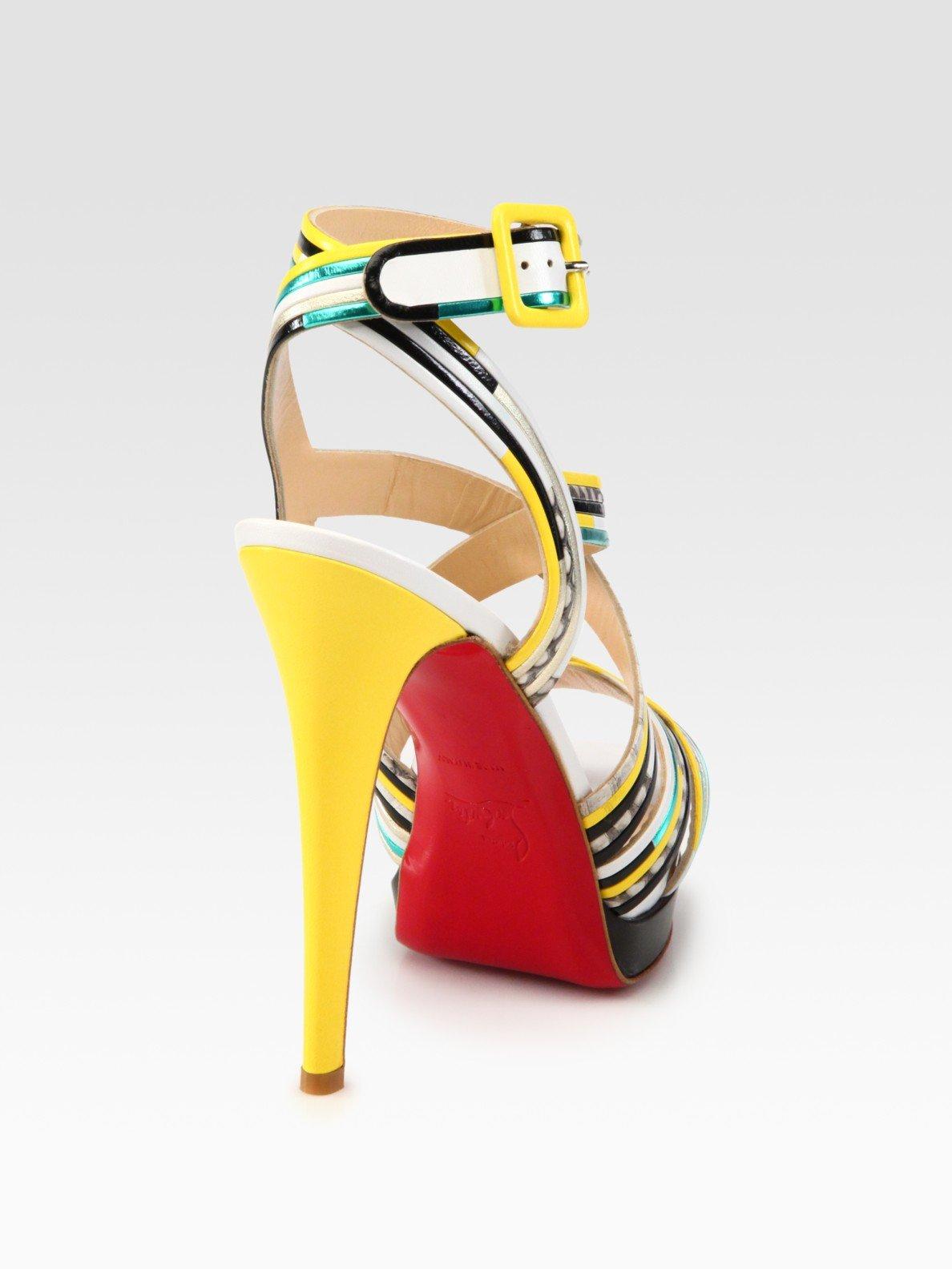 christian louboutin metallic platform sandals | The Little Arts ...