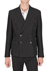 Christian Pellizzari Croco Jacquard Wool Flannel Jacket - Lyst