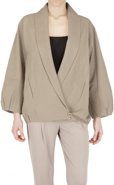 Christophe Lemaire Cotton Seersucker Jacket in Green (khaki) - Lyst