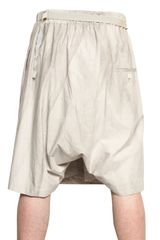 Damir Doma Cotton Poplin Wrap Shorts in Beige for Men - Lyst