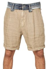 D&G Denim Waist & Linen Shorts - Lyst