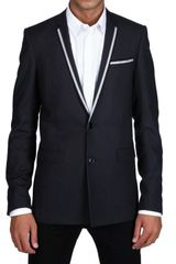 Dior Homme Pinstriped Serge Wool Selvedged Jacket