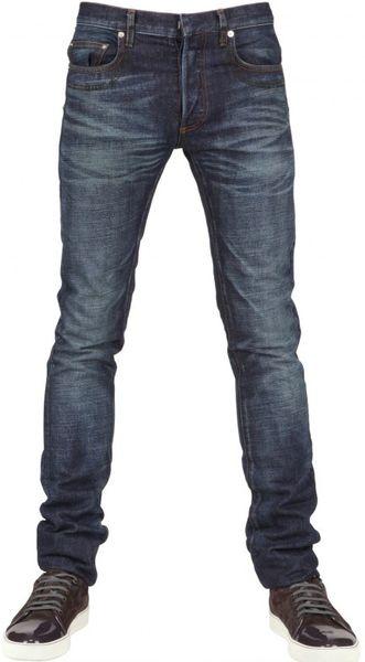 dior homme 19cm carbon copy denim jeans in blue for men lyst. Black Bedroom Furniture Sets. Home Design Ideas
