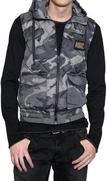 Dolce & Gabbana Camouflage Nylon Vest Sport Jacket in Green for Men