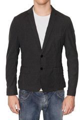 Dolce & Gabbana Vichy Cotton Canvas Short Jacket - Lyst