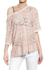 Dolce & Gabbana Satin Trim Viscose Lace Top - Lyst