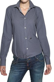 DSquared2 Polka Dot Cotton Poplin Shirt - Lyst