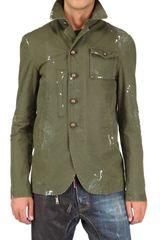 DSquared2 Painted Ripstop Cotton Jacket - Lyst