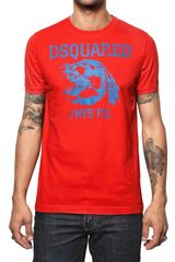 DSquared2 Cotton Jersey Tiger Print T-shirt - Lyst