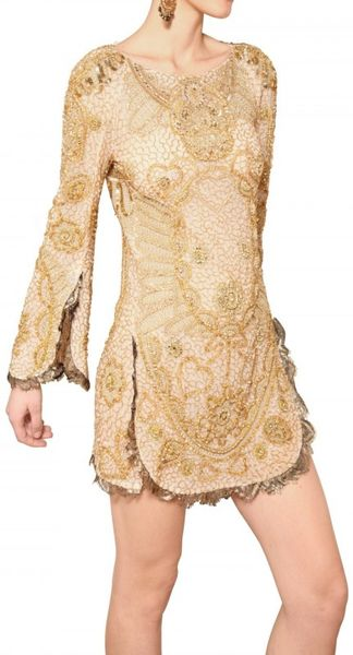 Uk Emilio Pucci Gold Sequins Silk Tulle Dress Sequin Silk Tulle Dress in