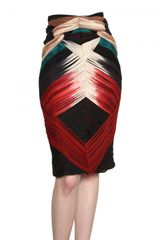 Felicity Brown Tie and Dye Silk Jersey Skirt - Lyst