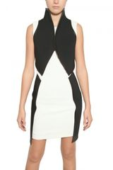 Gareth Pugh Neoprene, Viscose & Leather Dress - Lyst