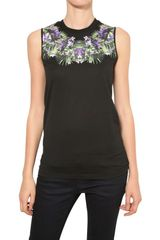 Givenchy Orchid Print Cotton Jersey Tank Top - Lyst