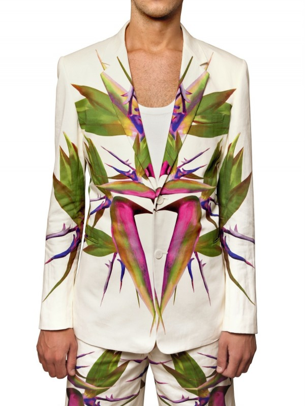 Givenchy Birds Of Paradise Print Gabardine Jacket in ...