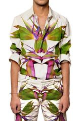 Givenchy Birds Of Paradise Printed Poplin Shirt - Lyst