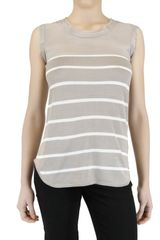 Hotel Particulier Striped Knit and Chiffon Top - Lyst