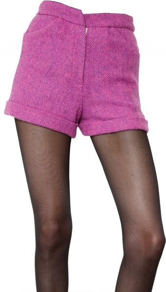 House Of Holland Harris Wool Tweed Shorts - Lyst