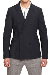 Iceberg Stretch Cool Wool Double Breasted Jacket - Lyst