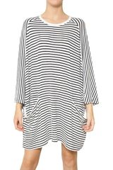 Jil Sander Oversize Striped Viscose Knit Dress - Lyst