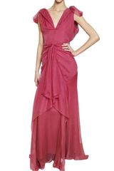 John Galliano Silk Chiffon Dress - Lyst