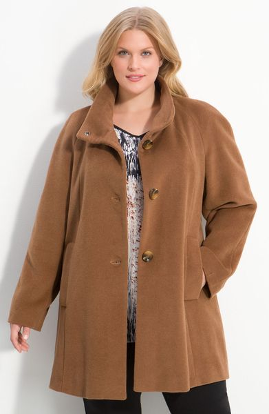 Kristen Blake Raglan Sleeve Wool Blend Coat In Beige Dark