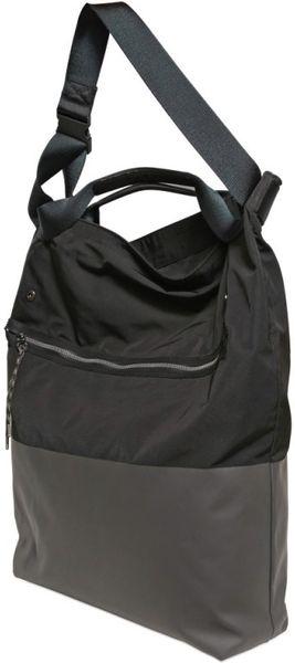 Black Nylon Shoulder Bag 120
