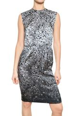 Lanvin Diamond Print Charmeuse Dress - Lyst