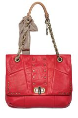 Lanvin Studded Nappa Medium Happy Shoulder Bag - Lyst