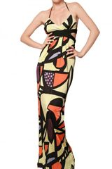 M Missoni Cut Out Silky Jersey Long Dress - Lyst