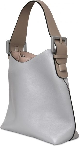 Marc Jacobs Victoria Leather Shoulder Bag in Gray (grey) - Lyst