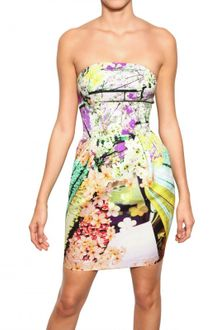 Mary Katrantzou Printed Cotton Viscose Wallpaper Dress - Lyst