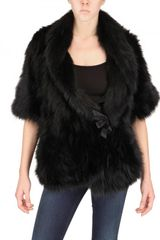 Meteo Tricot Fox Fur Coat - Lyst