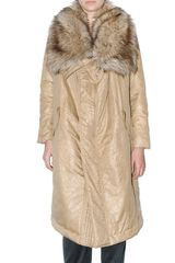Michael by Michael Kors Wrinkled Padded Nylon Coat - Lyst