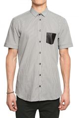 Neil Barrett Dot Print Poplin Short Sleeved Shirt - Lyst