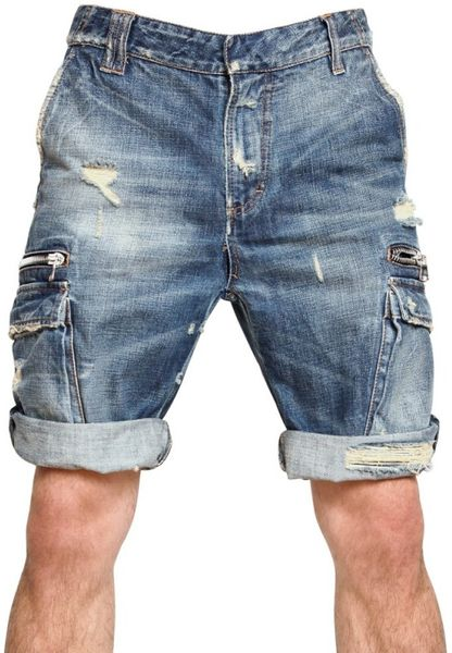 Destroyed Jean Shorts Mens Destroyed Denim Shorts Men