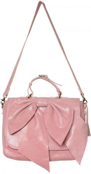Red Valentino Leather Bow Shoulder Bag 96