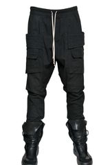 Rick Owens Cotton Poplin Trousers - Lyst