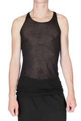 Rick Owens Miniribbed Cotton Tank Top - Lyst