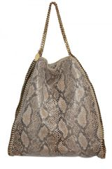 Stella McCartney Eco Python Falabella Shoulder Bag - Lyst
